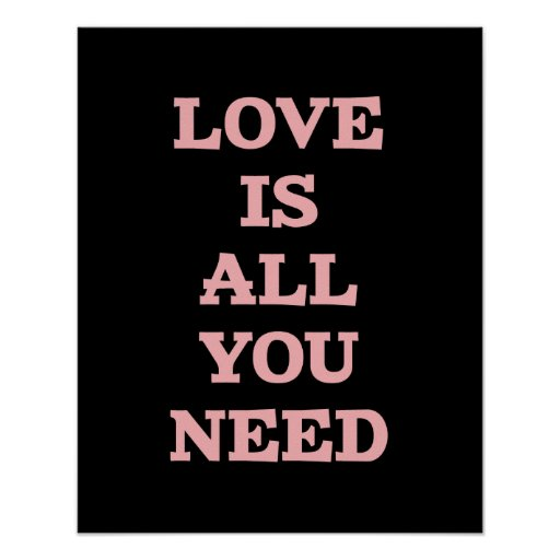 Love Is- Black And Pink Inspirational Quote Poster