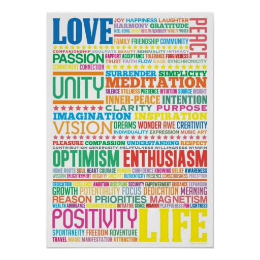"Inspirational Quotes About Positive: ""Love Life"" Inspirational Motivational Art Design Poster"