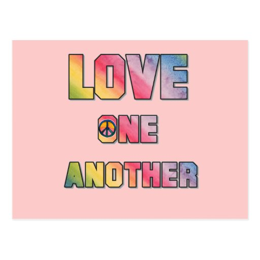Love One Another: Love One Another Peace T-shirts And Gifts Postcard
