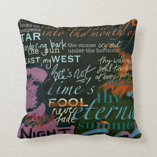 Love Quotes Cushion from Shakespeare, Blake, Auden Pillows from ... - Words And Quotes Pillow Designs