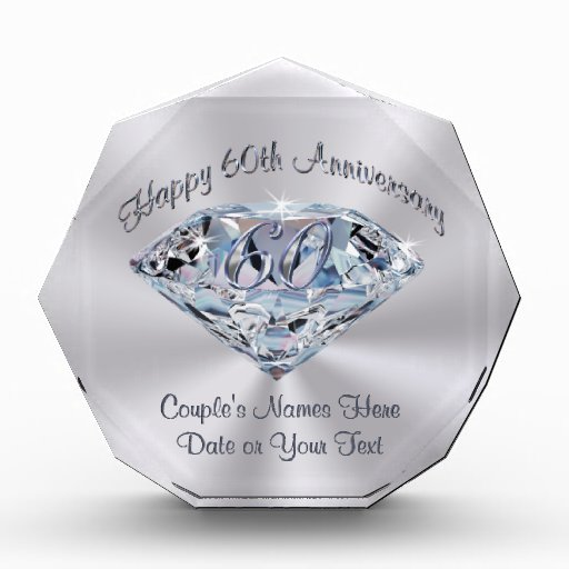 Special Gift For Wedding Anniversary: Lovely 60th Wedding Anniversary Gifts PERSONALIZED Award