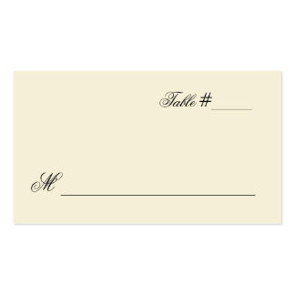double sided place card template - escort business cards and business card templates zazzle