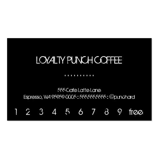 Loyalty Coffee Punch Card Business Template