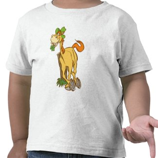 Lucky Cartoon Horse St Patrick's Day KidsT-shirt shirt