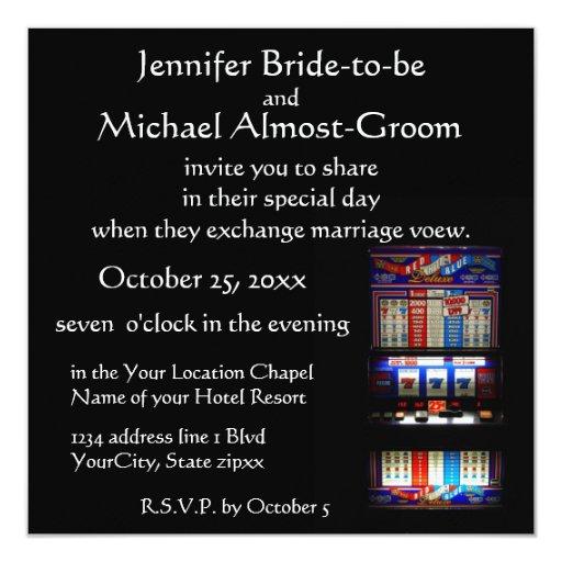 Casino Wedding Invitations: Lucky In Love Casino Theme Wedding Invitation
