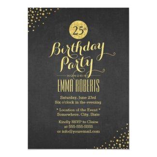 Luxury Black Gold Birthday Party Card