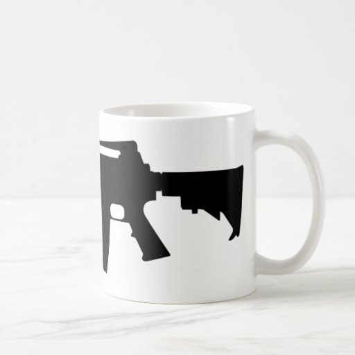 M4 Silhouette Coffee Mugs | Zazzle