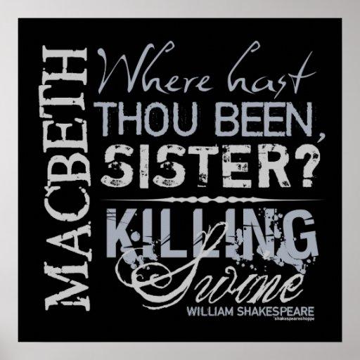 Lady Macbeth Quotes: Macbeth Posters, Macbeth Prints, Art Prints, & Poster