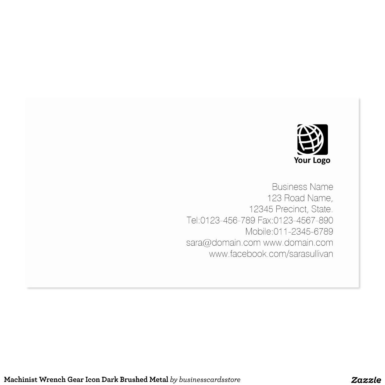 White Gear Icon Machinist Wrench Gear Icon