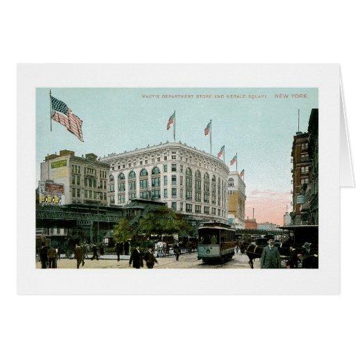 Macy's Department Store, New York Card