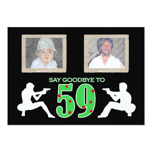 Birthday Celebration Chicago Style: Mafia Style Photo 60th Birthday Celebration Card