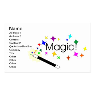 107 magic wand business cards and magic wand business. Black Bedroom Furniture Sets. Home Design Ideas
