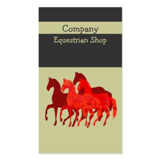 magic horses business card templates. Black Bedroom Furniture Sets. Home Design Ideas
