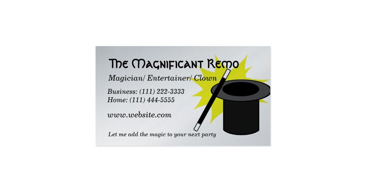 magic me magician business card zazzle. Black Bedroom Furniture Sets. Home Design Ideas