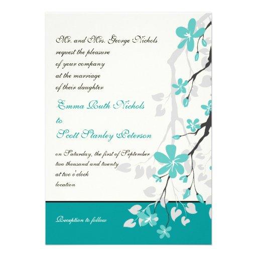 Wedding Invitations Turquoise