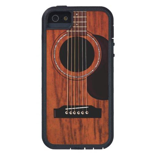 mahogany top acoustic guitar iphone se 5 5s case zazzle. Black Bedroom Furniture Sets. Home Design Ideas