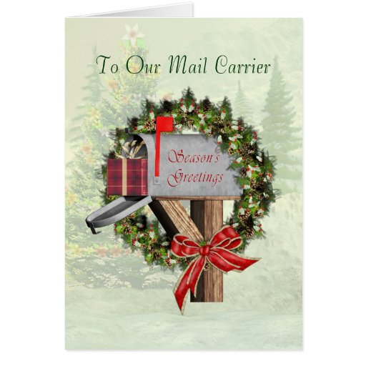 Mail Carrier Cards, Mail Carrier Card Templates, Postage