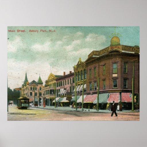 Vintage Park: Main St., Asbury Park, NJ 1906 Vintage Poster