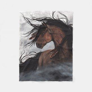 Majestic Horse by Bihrle Blanket Fleece Blanket
