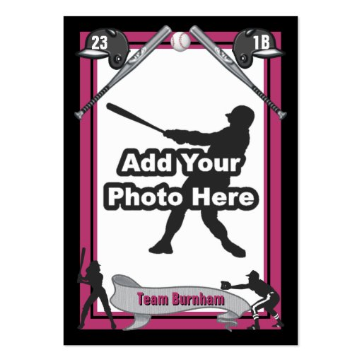 Make your own baseball card zazzle for Baseball card size template