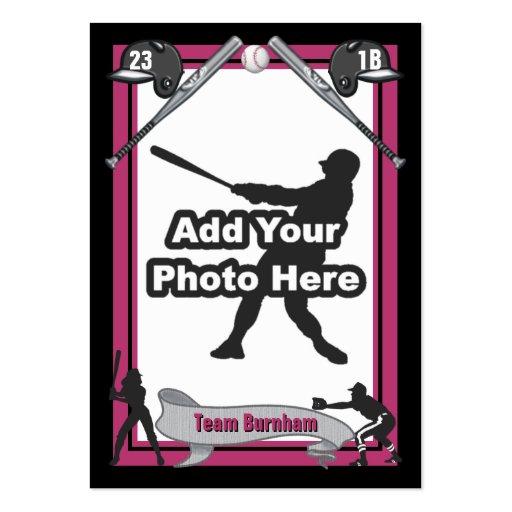 baseball card size template - make your own baseball card zazzle