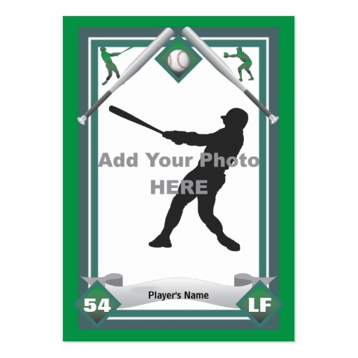 baseball card size template - make your own baseball card large business cards pack of