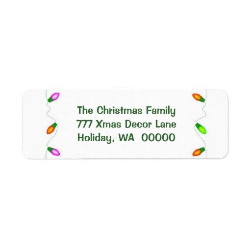 Make Your Own Christmas Envelope Address Labels