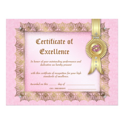 certificate diploma excellence makeup cosmetology artist letterhead graduation zazzle gifts