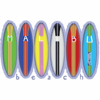Malibu Beach Surfboards Photo Cutout