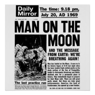 Man In The Moon Posters | Zazzle