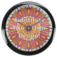 Mandala Coloring Page Colorful Custom Aquavista Clocks