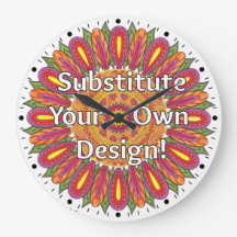 Mandala Coloring Page Colorful Custom Clock
