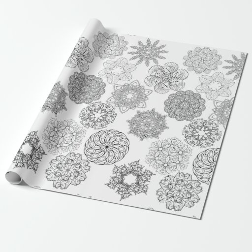 mandala coloring paper wrapping paper zazzle. Black Bedroom Furniture Sets. Home Design Ideas