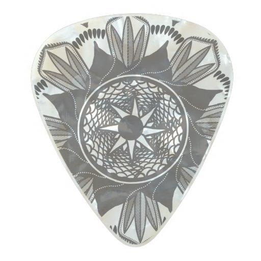 mandala design guitar pick custom guitar pick art zazzle. Black Bedroom Furniture Sets. Home Design Ideas