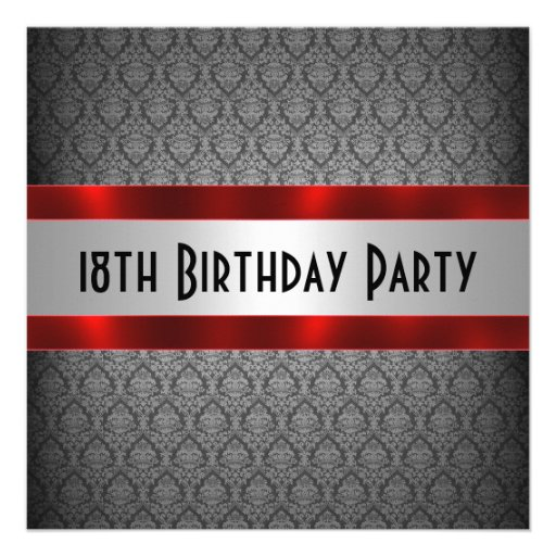 Personalized 18th Birthday Invitations Custominvitations4u Com