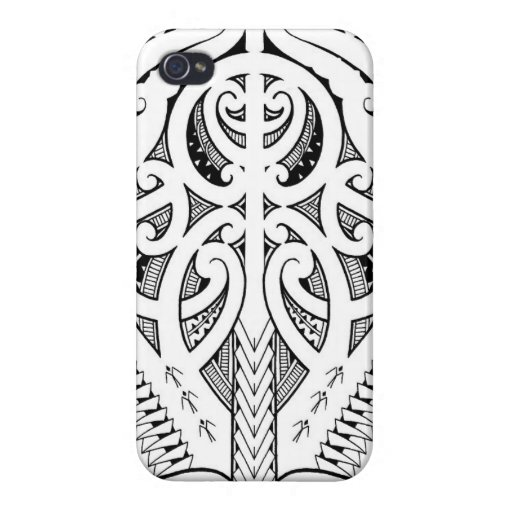 Maori Tattoo Design With Bird Elements Case For IPhone 4