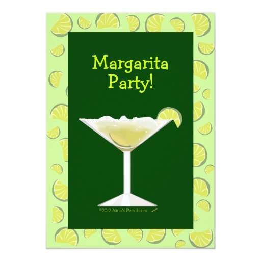 Margarita party cocktail party invitation template zazzle for Cocktail party invite template