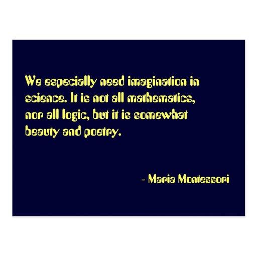 Maria Montessori Quotes: Maria Montessori Quote No. 7 Post Card