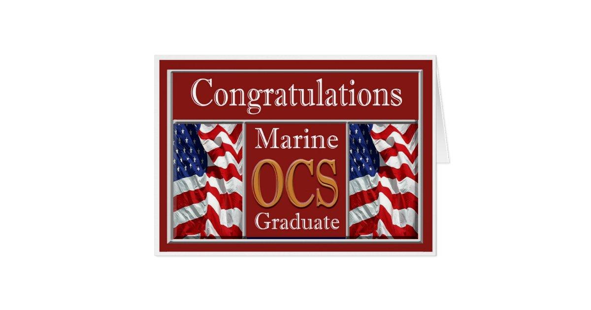 Marine Ocs Graduation Congratulations Card Zazzle