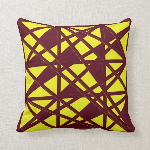 Maroon And Gold Throw Pillow Zazzle