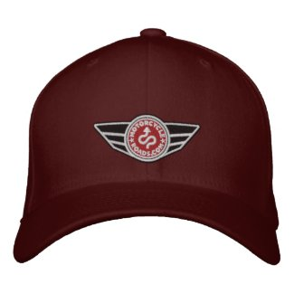 Maroon ball-cap with red embroidered MCR logo embroideredhat 4916d568fde2
