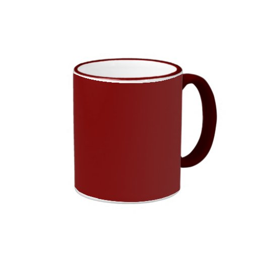 Maroon Solid Color Ringer Coffee Mug   Zazzle
