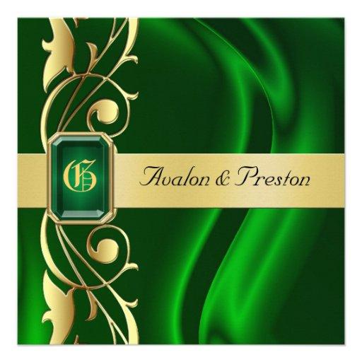 Personalized Emerald Green Invitations