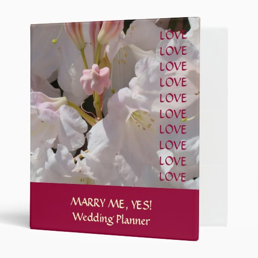 Gift For Wedding Planner: MARRY ME YES! Wedding Planner Book Gift Binder