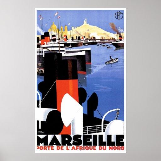 marseille porte de l 39 afrique vintage ship ad poster zazzle