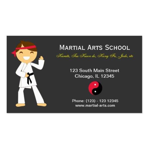 martial artist business cards page4 bizcardstudio. Black Bedroom Furniture Sets. Home Design Ideas