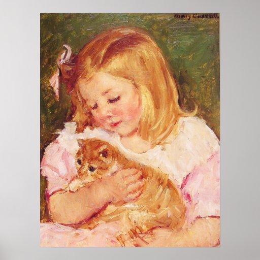 Mary Cassatt - ... Mary Cassatt Sara Holding A Cat