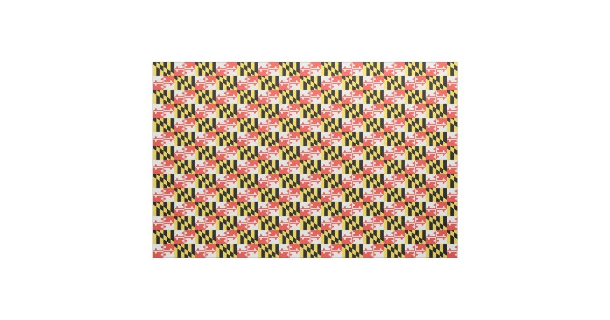 Maryland Flag Fabric Zazzle