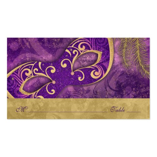 double sided place card template - masquerade ball mardi gras wedding place cards double