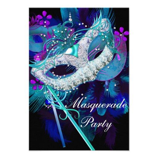 Personalized Costume masquerade ball party Invitations ...